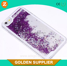 china supplier new products for iphone 6 beautiful star design 3D hard glitter liquid mobile phones back cases