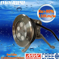 stainless steel submersible cree led underwater pool light