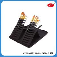 15pcs professional artist painting brush set