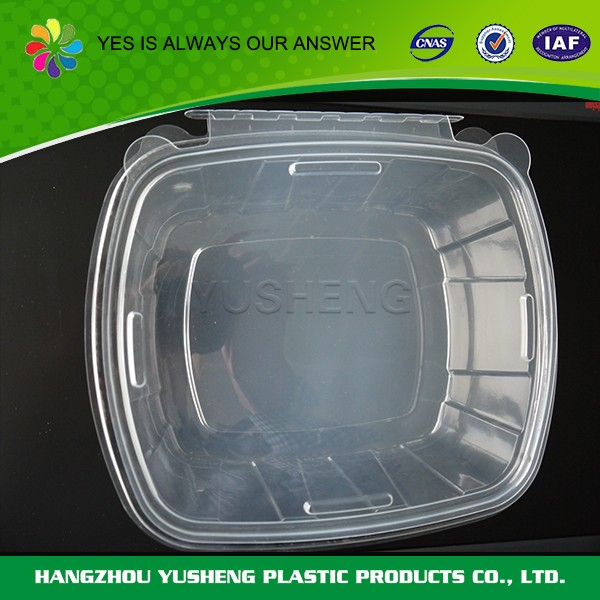 Disposable clear mushroom container,plastic soup containers