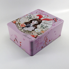 High quality beautiful rectangle tin box for cosmetic
