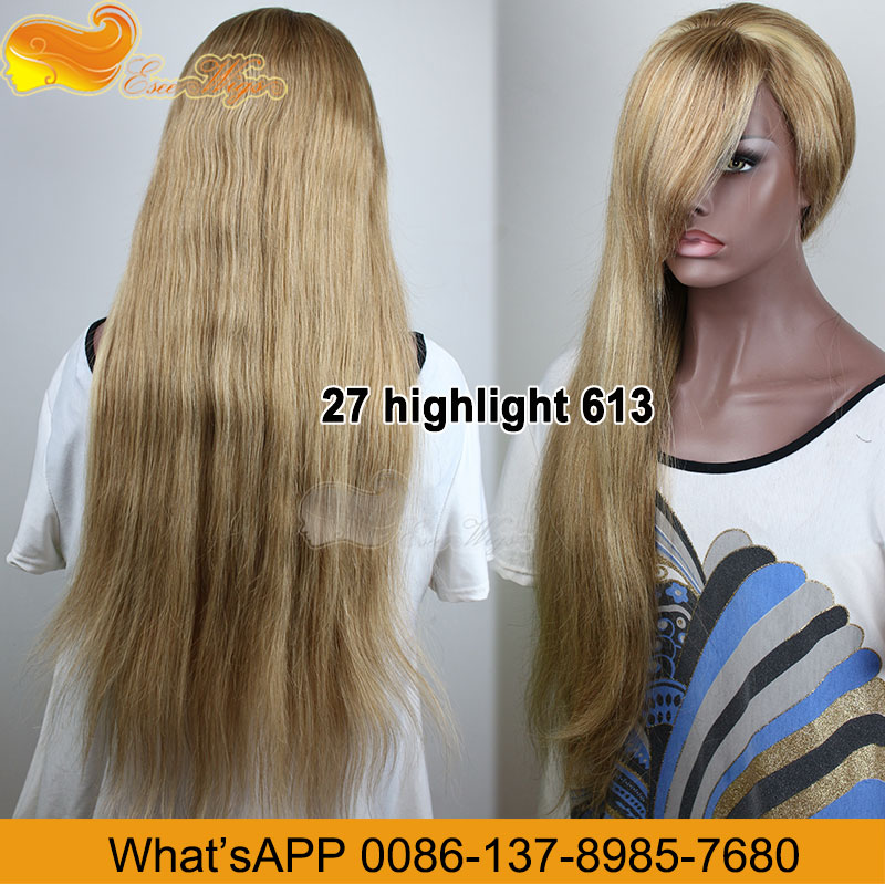Hot!Top Quality Wholesale Price 100% Human Hair 27Hight Light613 Hair Wigs For Black Men 8-24Inch In Stock