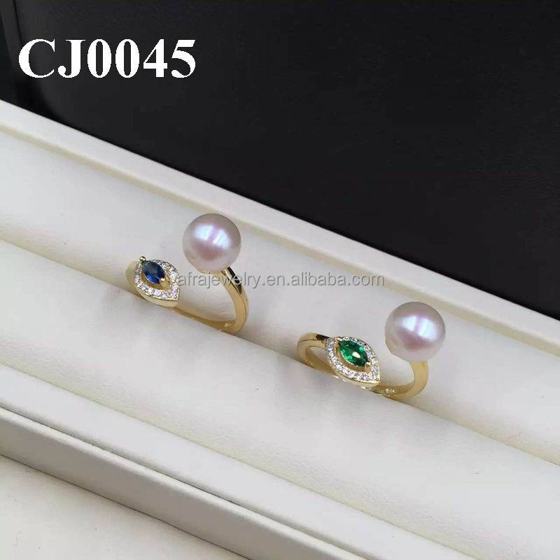 Named Eye 18K Gold Color Single Stone Lady's Simple Gold Ring Designs