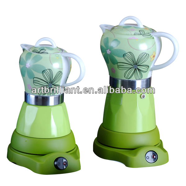 electric green colored coffee maker