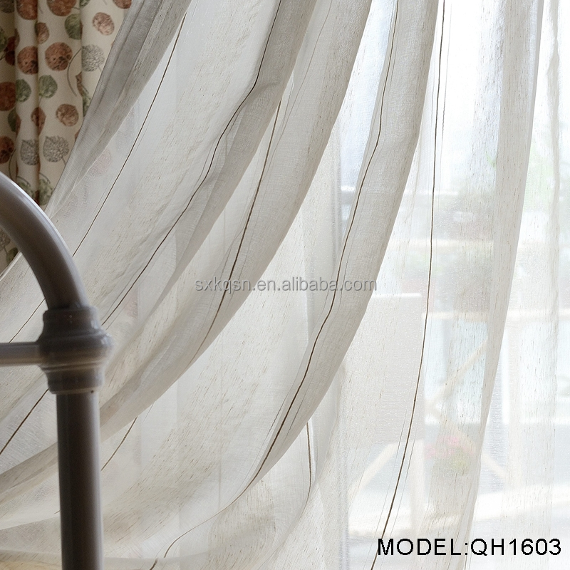 China wholesale custom different kinds home sense curtains white fabric sheer curtain
