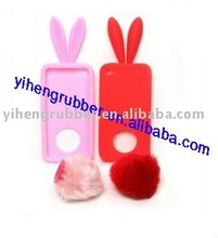 durable soft silicone skin case for iphone4G