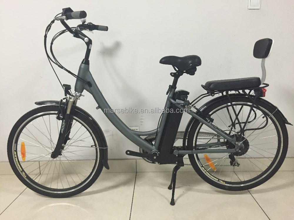 Step Through frame bike/Lady style electric bike with kids seat