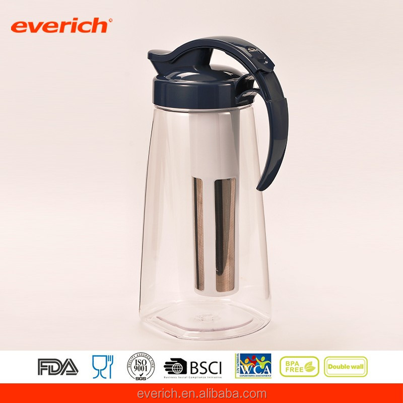Wholesale 2L Plastic Tritan Water Pitcher With Tea Filter