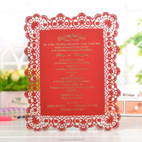 Customized free samples laser cut happy birthday handmade greeting card all occasions