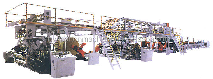 Cangzhou OUGUAN high speed 3/5/7 ply corrugated paperboard production line corrugated carton machine