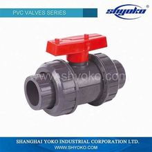 PVC Water Pipe Fittings Double Union Ball Valve