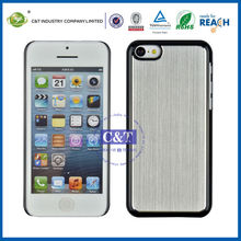 C&T Plastic bumper back aluminum chrome hard case for iphone 5