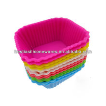 FDA approved Food grade nonstick square cupcake silicone ice cream maker cup
