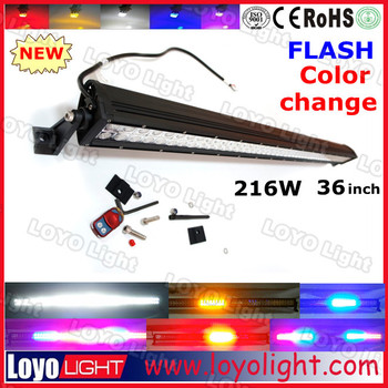 "high power 2 rows 300W 52"" RGB 3D led light bar lens cover for trucks"