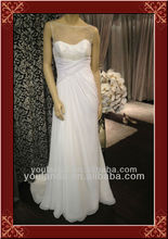 Real Pictures Of Beach Wedding Gown Scoop Neckline Fashion Chiffon Bridal Dresses