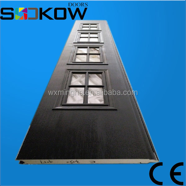 steel garage door panels/sandwich panels for sectional doors/window panels