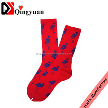 2015 hot crane printed socks for women men's sport casual cotton skateboard socks