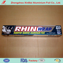 Xinlilai brand color box backed household 6~24mic thick aluminum foil film