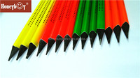 2016 children's gifts pencil neon paiting black wood HB pencil