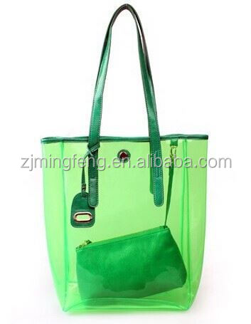 pvc bag/ transparent pvc handbag/ vinyl pvc bags for quilt with zipper