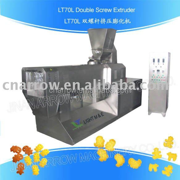 salad snacks doule screw extruder