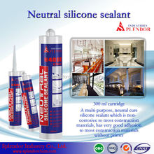 Neutral Cure Silicone Sealant with sealant gun/roof gutters silicone