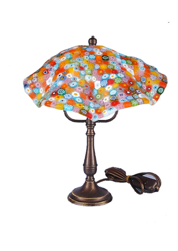 Table lamp millefiori diam inch 8,75 height 12,20 handwork made in Italy