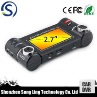 "two lens camera dual view car camera mini spy-camera hd with g-sensor support 2.7"" TFT screen"