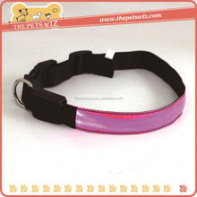 Led light collar tag ,CC153 dog pet collar diy , nylon different dog/cat size led pet luminous collars