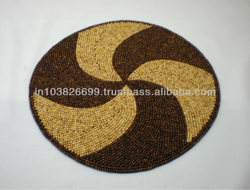Wooden Beaded Placemat