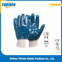 Good Skill Nitrile Blue Gloves With Fully Coated Jersey Lining Working Gloves