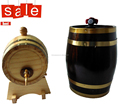 laser ehgraved logo decorative mini wooden barrels hot sale