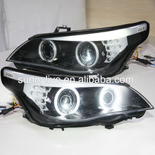 E60 523i 525i 530i Head Light CCFL Angel Eyes 2006 Year For BMW original car with HID kit D1S Xenon Light SN