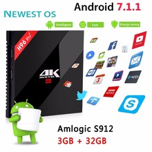 H96 pro plus Amlogic S912 TV Box Ram 3G Rom 32G 4K Codi 17.0 Dual WIFI android 7.1 Smart TV Box