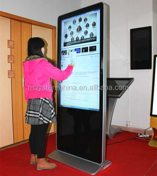 1 year warranty totem 1080p 3G Wifi 55 inch touch screen