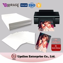 Inkjet 260gsm White RC Semi Glossy Photo A4 Paper