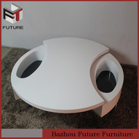 Rotatable MDF wood painted unusual living room furniture