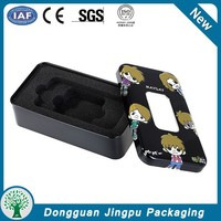 Usb storage tin box/earphone packaging can