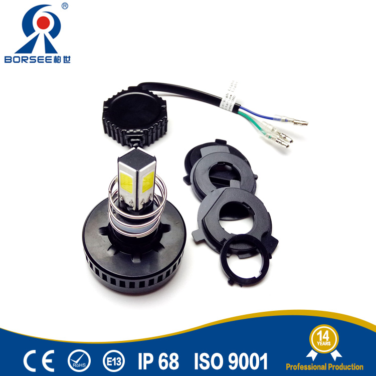 Borsee Factory wholesale high quality COB led motorbike lights for Honda 8-36v 24W 6500K H4