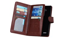 For lg g4 case, multi-functional detachable wallet leather case with 9 card holder and photo frame