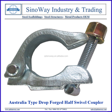 Australia Type Drop Forged Half Swivel Couplers, Scaffolding Single Clamps