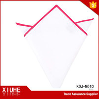 100%cotton white pocket square fashional handkerchief wholesale