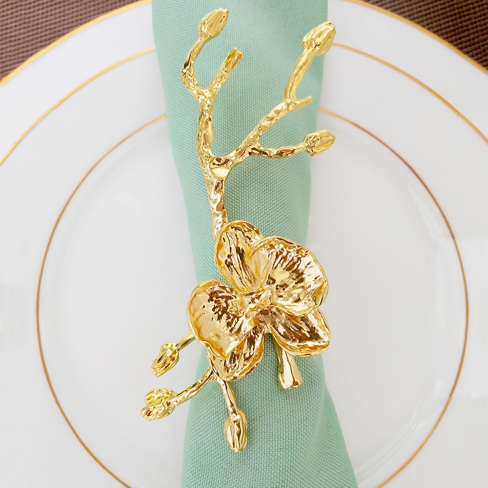 New Arrival 2019 Home Decor Trend Decorative Tableware Golden Metal Bird Napkin Rings
