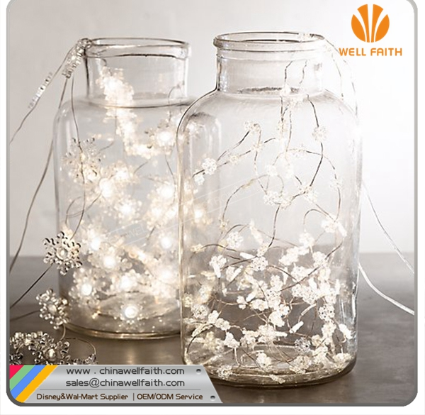 Christmas Decorations Battery Operated Snowflake Led String Lights