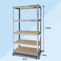 5 layers garage storage systems metal shelving boltless rivet shelving