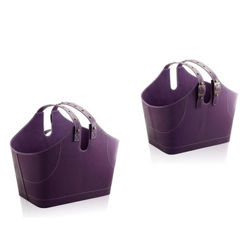 Considerate adjustable handle houseware shopping basket