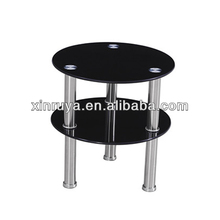 Glass Corner Table/Coffee Table New Design