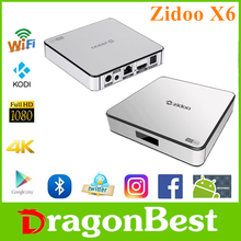 2017 high quality Zidoo X6 Pro R3368 2G 16G stream smart tv box With Bottom Price KODI TV Box with wifi