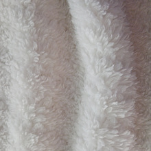 100 polyester thick super soft shu velveteen new style strip design fabric for hometextile blanket