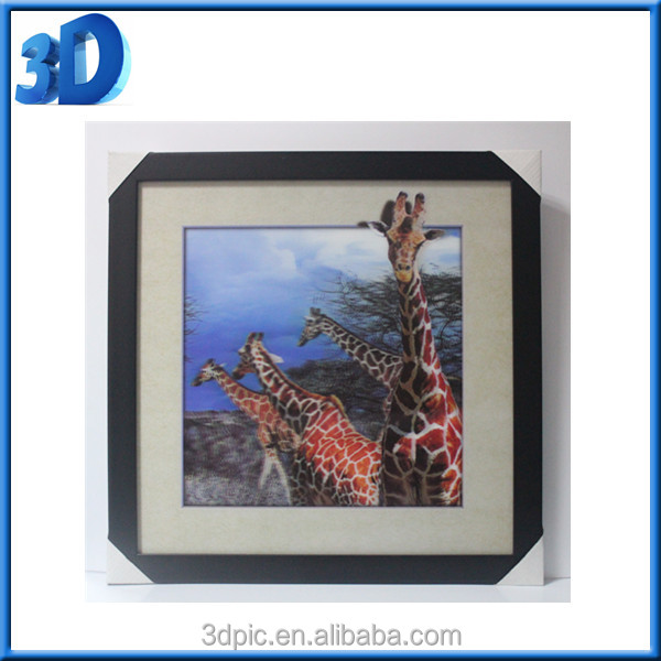 2016 hot best selling new products custom cute animal 3d digital picture 30*40 inches photo frame 3D